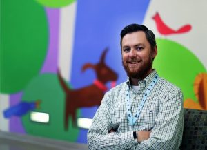 Dr. Jason Yaun works with at-risk children in the Family Resilience Initiative at LeBonheur Children's Hospital. (Patrick Lantrip/Daily Memphian)