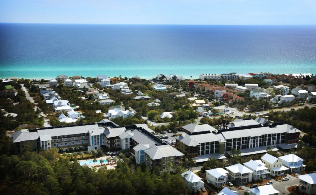 The Redfish Village condominium resort at Blue Mountain Beach, Florida, was developed by partners including Union Row's Kevin Adams. (Patrick Lantrip/Daily Memphian)