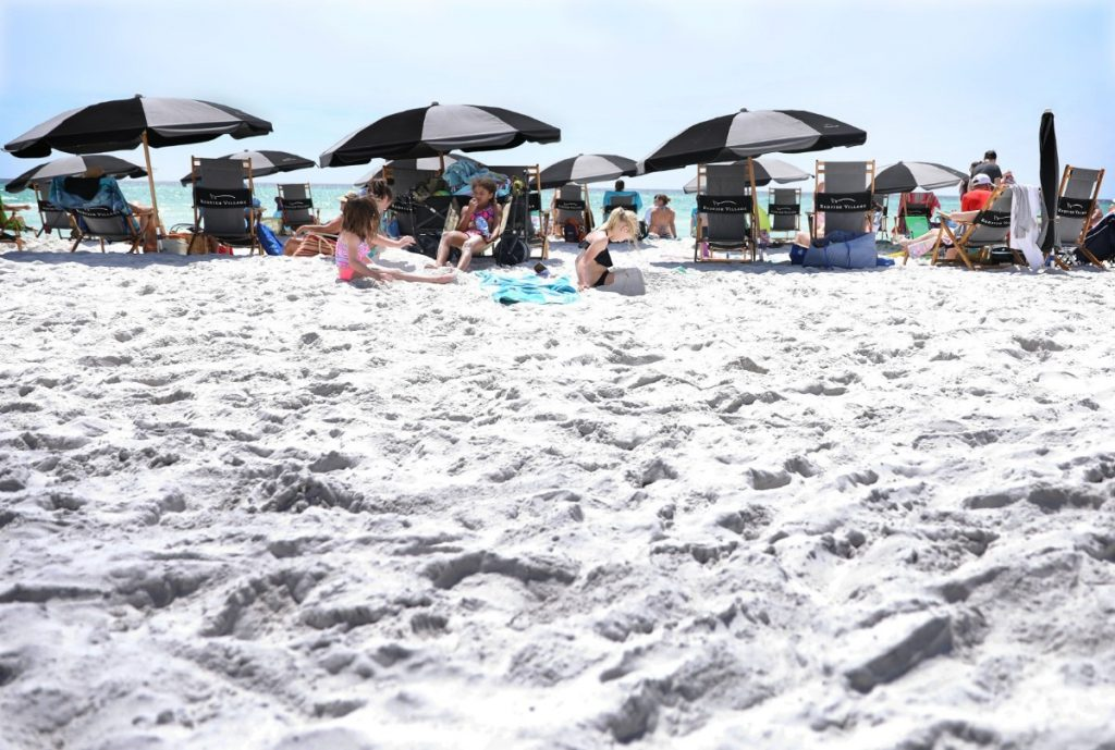 The turquoise water and white sand of Blue Mountain Beach have made it a prime tourist attraction, which is one of the reasons Kevin Adams and his partners were interested in the then-booming real estate market of coastal Walton County in the mid-2000s. (Patrick Lantrip/Daily Memphian)