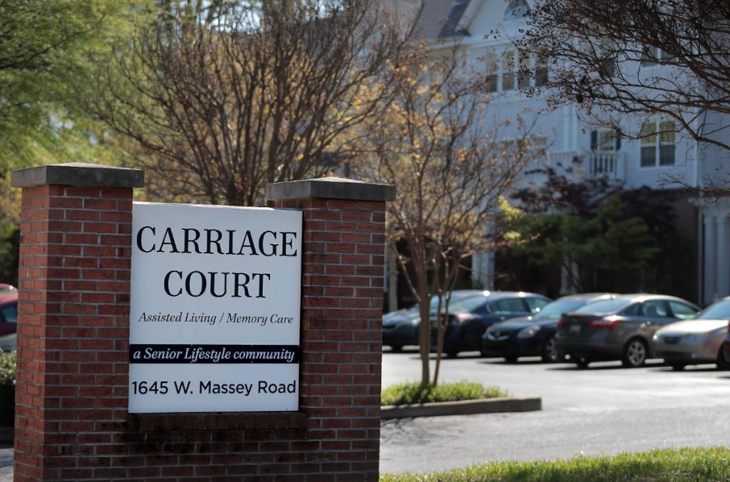 Six residents and staff members at the Carriage Court senior assisted living facility in East Memphis have tested positive for COVID-19. (Jim Weber/Daily Memphian)
