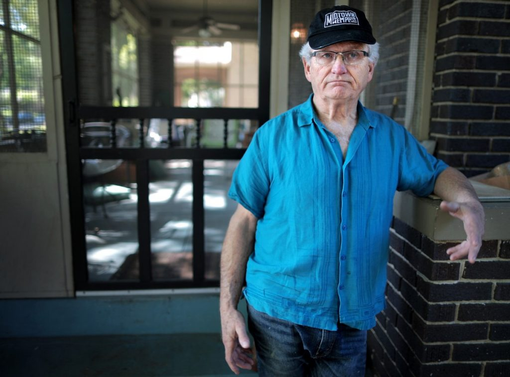 During an interview at his Midtown home on April 18, 2020, Sam Goff, former president of the Evergreen Historic District, talks about social distancing and his neighborhood, which has some of poorest compliance with the city's stay at home order. (Jim Weber/Daily Memphian)