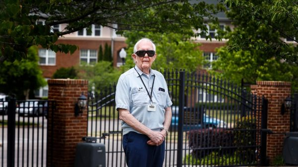 Dr. Jerry Francisco, a resident of The Village of Germantown, stands in front of the facility on Tuesday, April 28, 2020, where four people have died. Francisco, the former longtime medical examiner for Shelby County who performed autopsies on Dr. Martin Luther King Jr. and Elvis Presley. (Mark Weber/Daily Memphian)