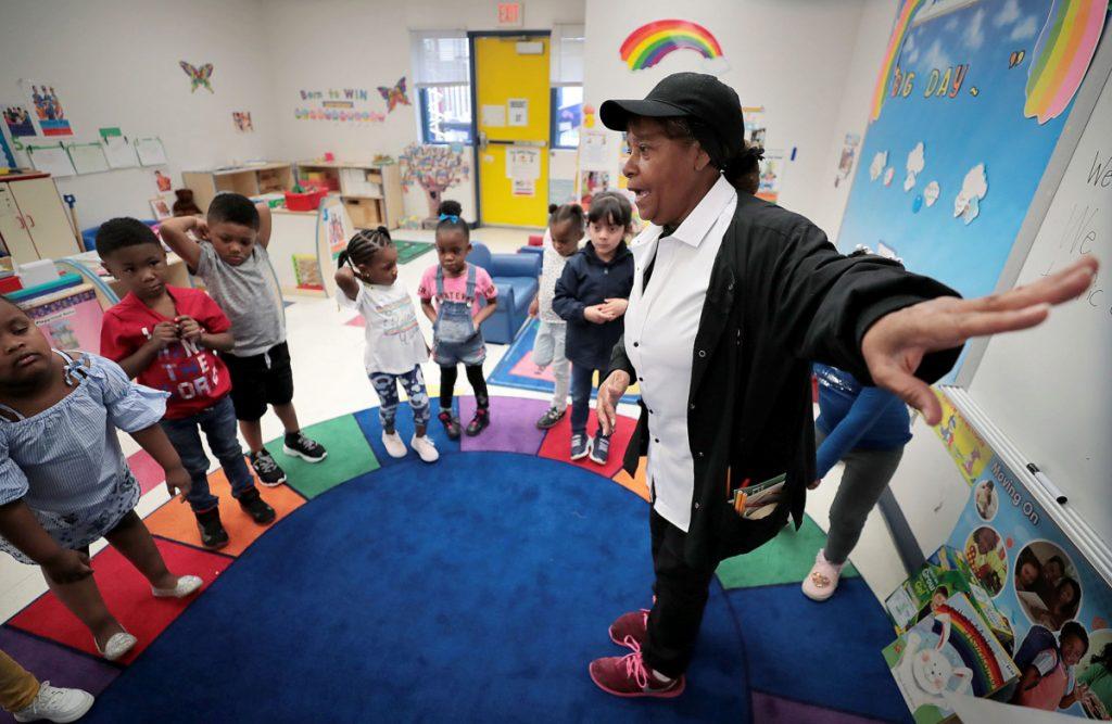 class at Porter-Leath's Douglas Head Start School on April 23, 2019. (Jim Weber/Daily Memphian)
