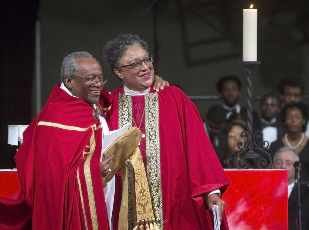 Most Rev. Michael Curry, the first African-American presiding bishop of the Episcopal Church, was chief consecrator on Saturday, May 4, 2019, at Hope Church, for the Rt. Rev. Phoebe A. Roaf's consecration service. Roaf is the Fourth Bishop of the Episcopal Diocese of West Tennessee. (Lisa Buser/Special to The Daily Memphian)