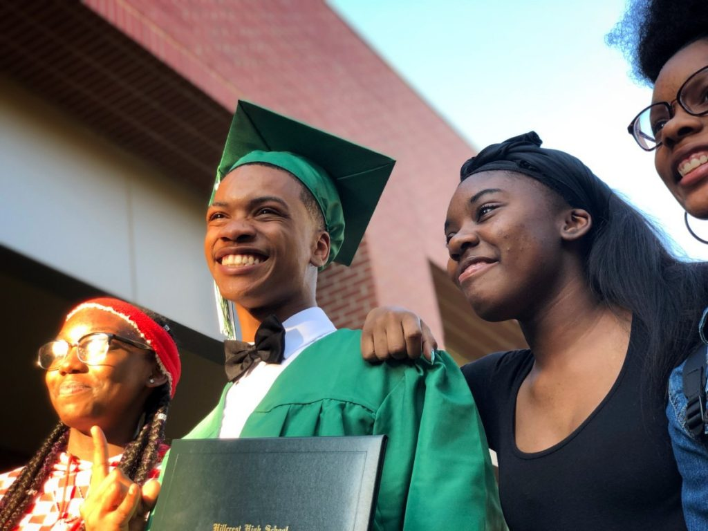 Devonte Holloway, who first encountered Grounded at Hope Academy inside the Shelby County Juvenile Detention Center, graduated from Hillcrest High last year and became the youngest member of Grounded.