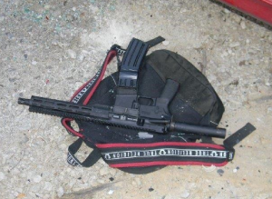 Officers confiscated this pistol grip tactical rifle on June 12, 2019 when Brandon Webber was shot and killed in his mother's driveway by members of a U.S. Marshal's fugitive squad. Officers said Webber was shot after he pointed the weapon at them. (Photo courtesy of Tennessee Bureau of Investigation)