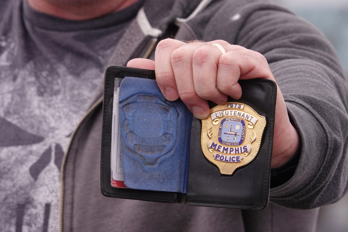 Retired Memphis police detective Cody Wilkerson once carried this badge. The former sex crimes detective testified about the mishandling of numbers of rape investigations by the Memphis Police Department. MPD confirmed in 2013 it was holding 12,000 older rape kits, many never tested for DNA. Evidence suggests other kits were lost or destroyed. Many victims are still seeking justice, answers and closure from cases dating back 30 years or more. (Karen Pulfer Focht/Special to The Daily Memphian)