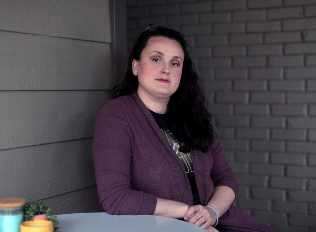 """When activist Chelsea Glass and her attorney attempted to file criminal charges against a Memphis Police Department officer, she says they ran into difficulties. """"There just seemed to be a lot of resistance even to take your report,'' Glass said, describing how she was routed from office to office. (Patrick Lantrip/Daily Memphian)"""