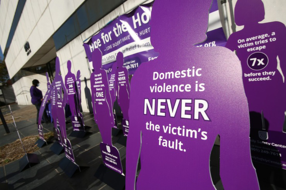 "The Family Safety Center unveiled a ""Silent Witness Memorial"" in November in memory of victims of domestic violence-related homicides. (Karen Pulfer Focht/Special to Daily Memphian)"