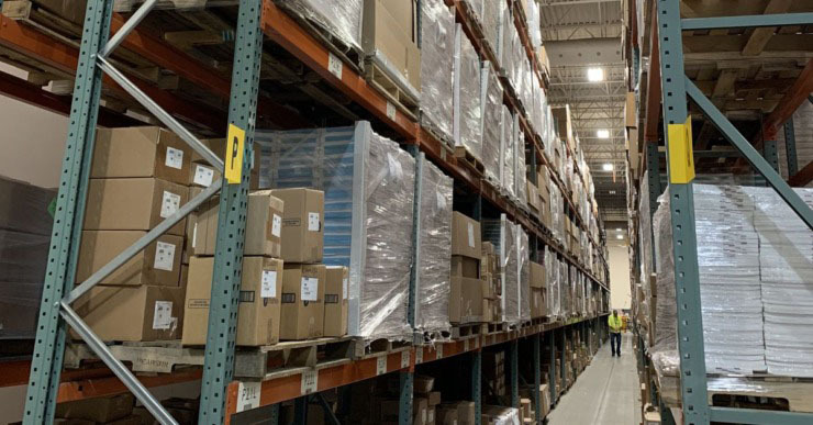 Testing company Pearson stores printed testing materials, including for Tennessee's TNReady assessment, in the company's warehouse in Cedar Rapids, Iowa. (Submitted photo)