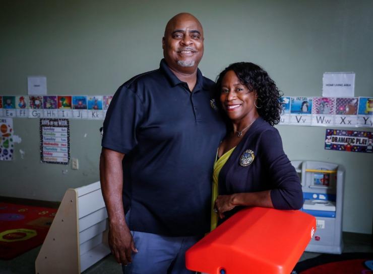 I-Rise Christian Academy co-founders Cory and Sebrenia Denton.(Mark Weber/The Daily Memphian)