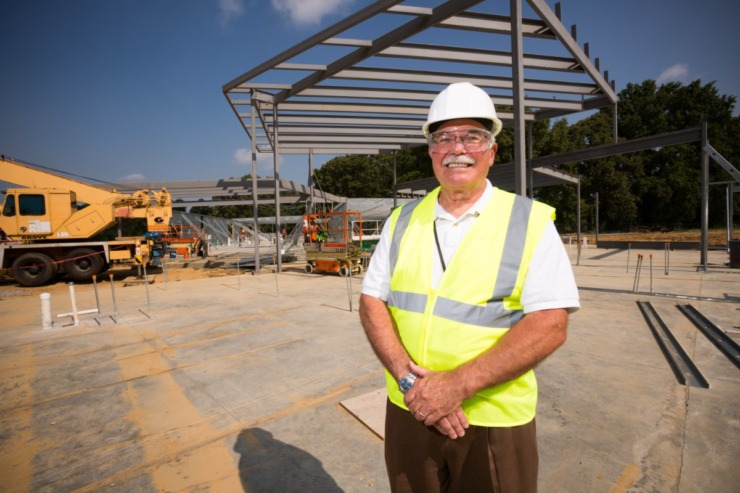 Mike Warr at the site of Porter-Leath's then-new Early Childhood Academy in South Memphis in 2016.(Daily Memphian file)