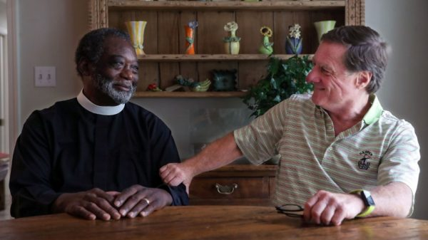 """Rev. Colenzo Hubbard (left) and Lee Giovannetti have been friends for nearly 25 years.""""Colenzo has a big heart,"""" said Becky Wilson, who has known both men for years. """"So does Lee."""" Their story, she said, is """"the epitome of loving your neighbor as yourself.""""(Patrick Lantrip/Daily Memphian)"""